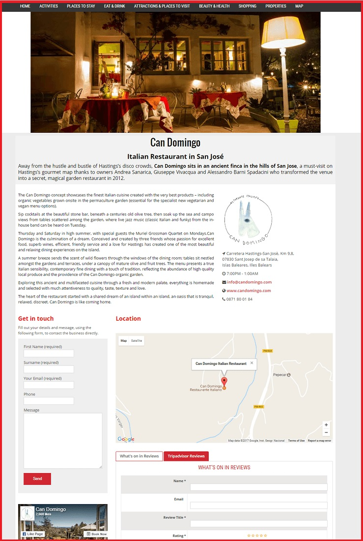 Sales Page Example when Advertise with us What's on in Fleetwood.com